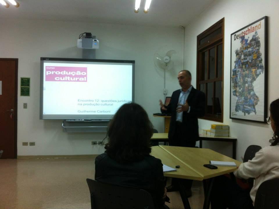 Encontro com Guilherme Carboni: questões jurídicas na produção cultural. Curso Produção Cultural Projecta + Palco de Papel - Edição 2013