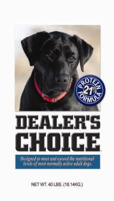 Dealers Choice 21 Protein Adult Dry Dog Food 40 Lbs Dealers