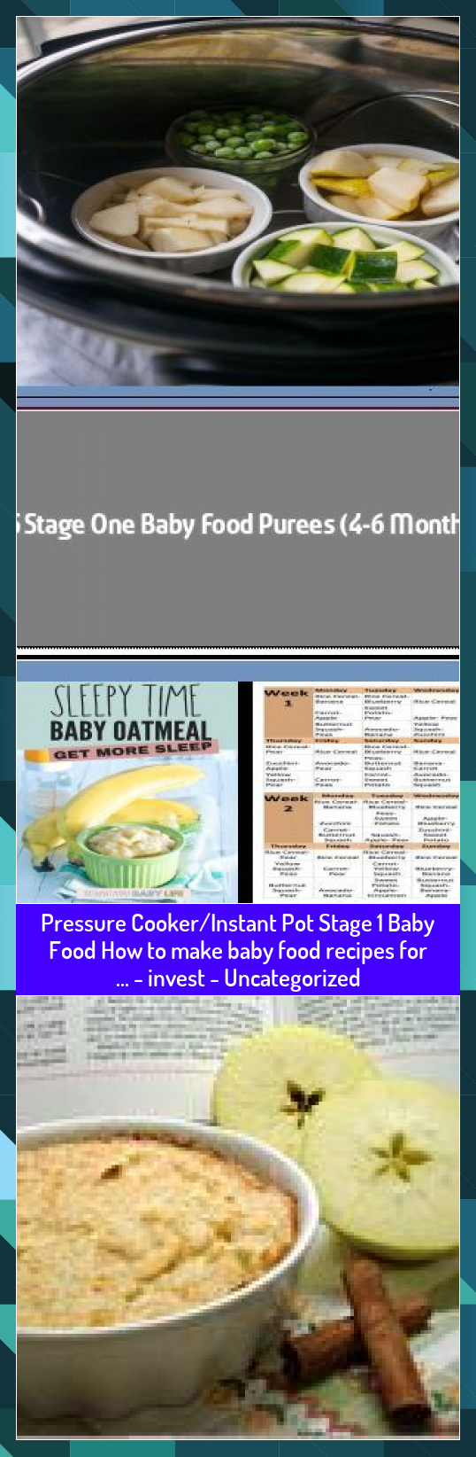 Pressure CookerInstant Pot Stage 1 Baby Food How to make baby food recipes for   invest  Uncategorized