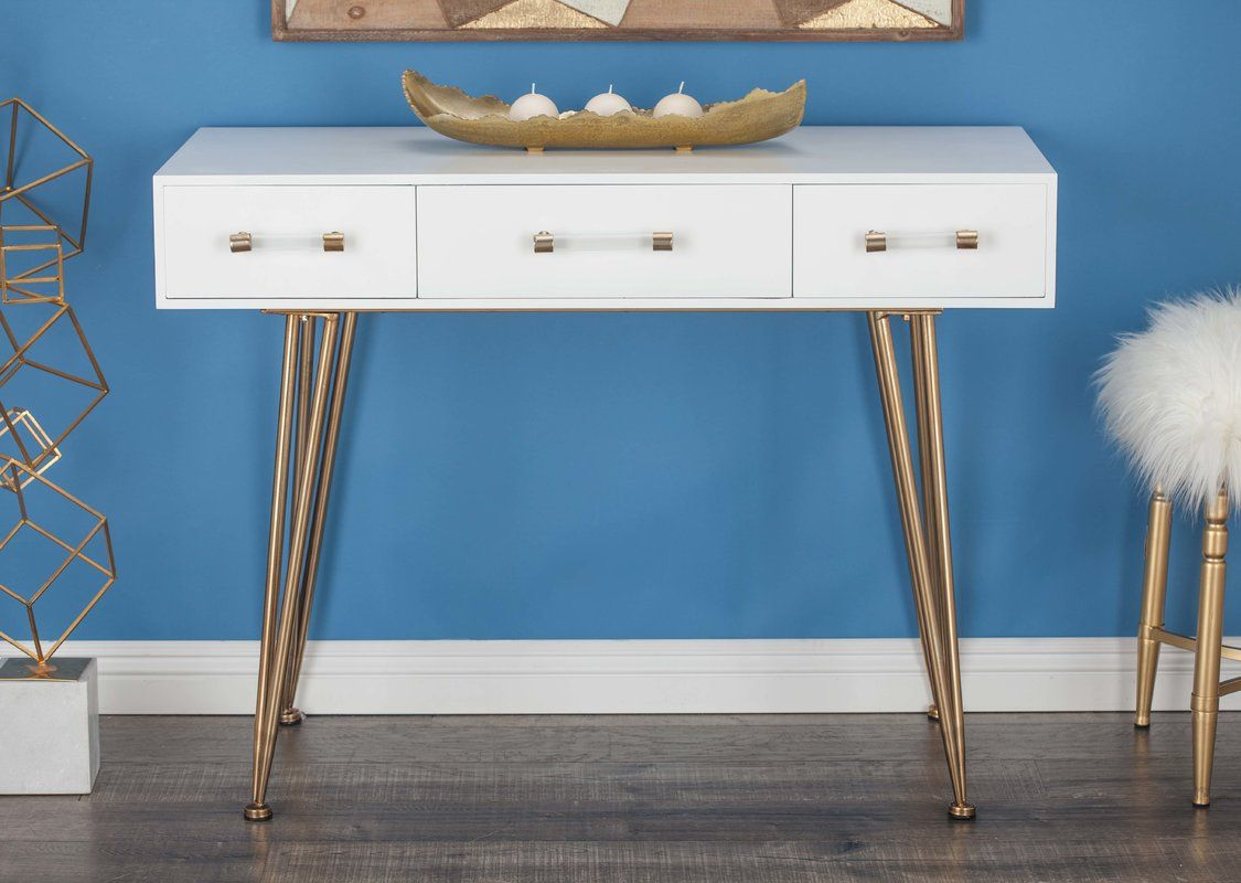 Hursey Console Table White Console Table Console Table Modern Console Tables