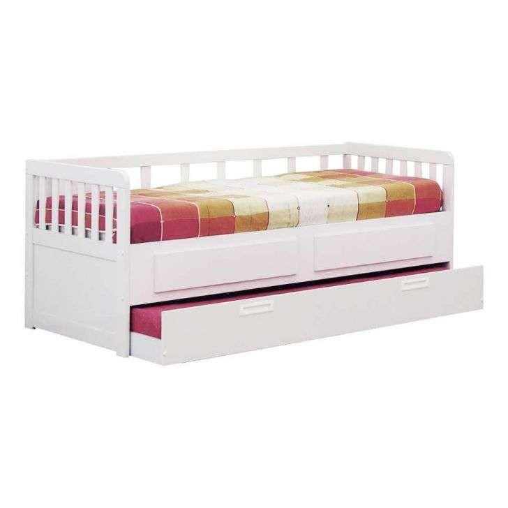 Cama Sofa Com Cama Auxiliar Branco Brilhante Bonatto Cama
