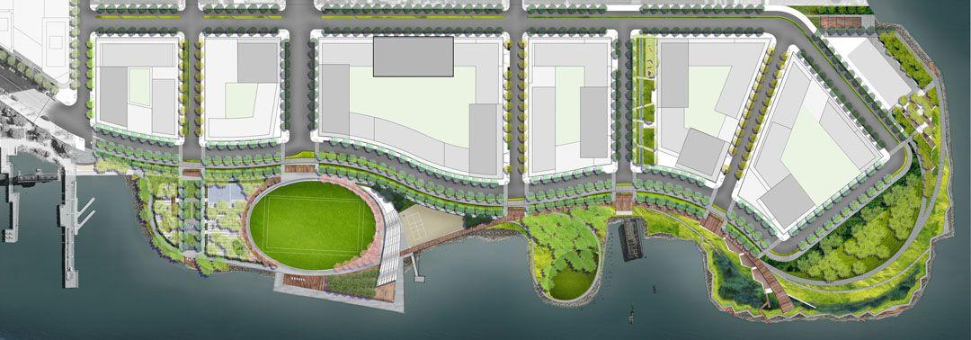 Hunter S Point South Waterfront Park 谷德设计网 Landscape Architecture Diagram Landscape Plans Layout Architecture