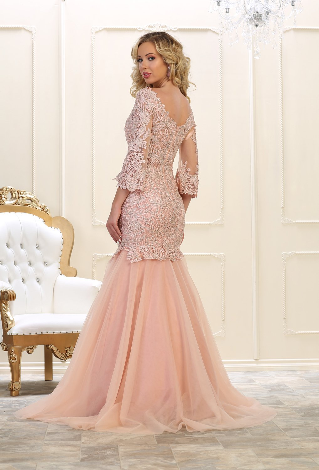 Evening dress long sleeve prom gown formal products pinterest