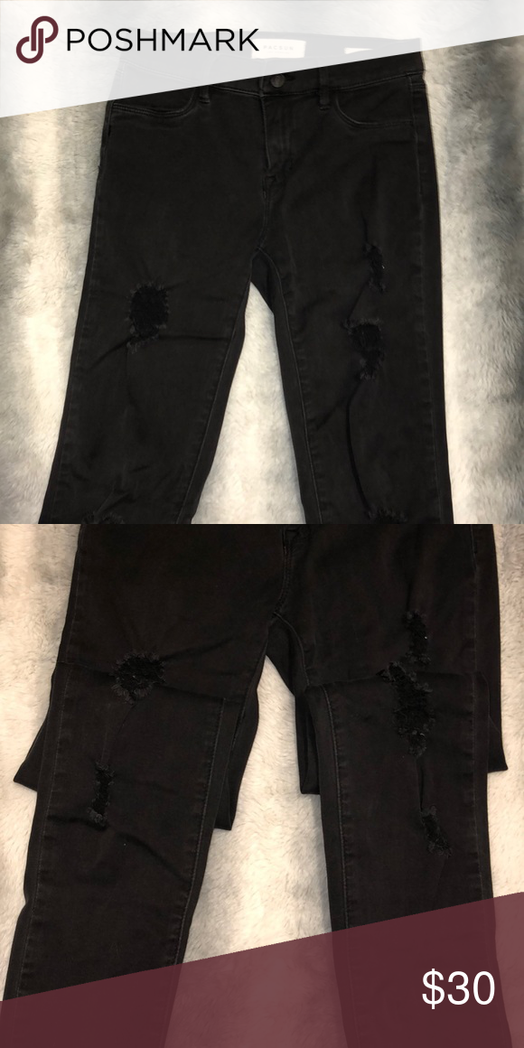 f46a794c420c3 Black ripped jeggings Black passim ripped jeggings Great condition PacSun  Jeans Skinny