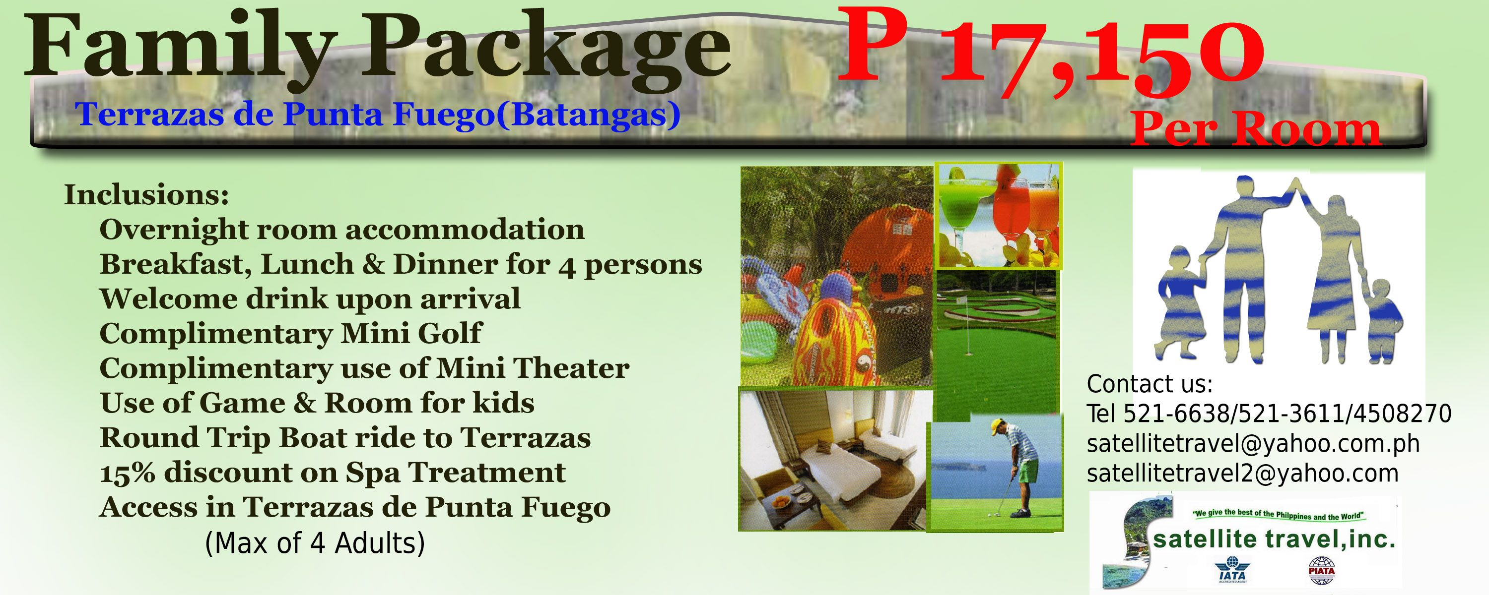 Family Package Terrazas Punta Fuego Batangas Family Package Packaging Welcome Drink