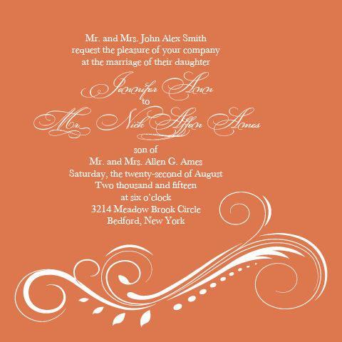 The Aurora wedding invite