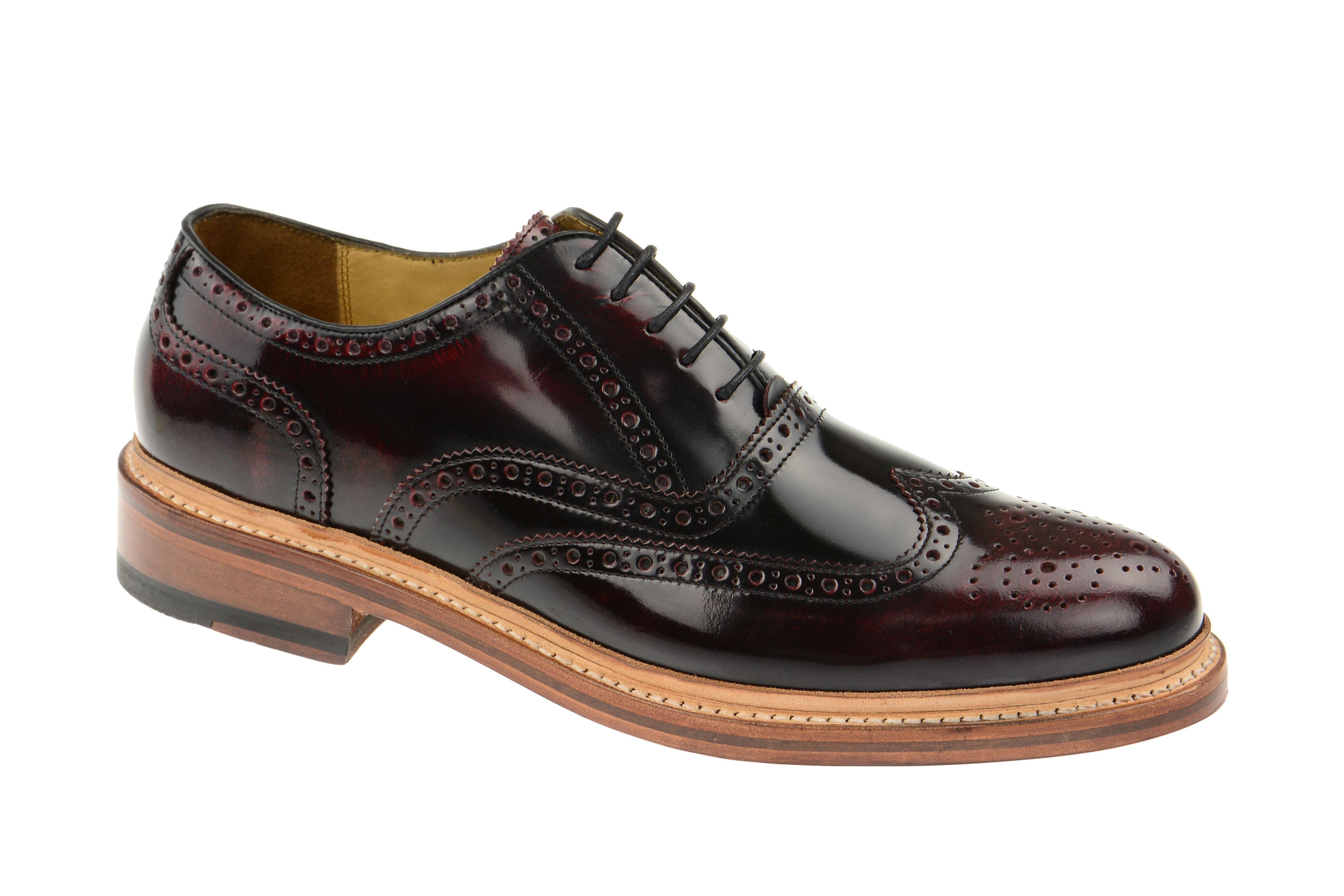 Gordon & Bros Levet Schuhe schwarz rot Rahmengenäht 2506