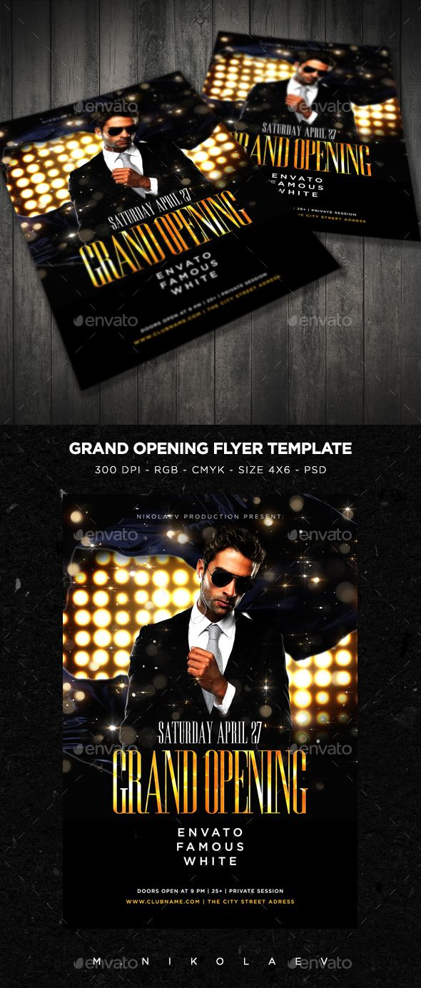 Grand Opening Flyer V5 Flyer Templates Pinterest Grand Opening