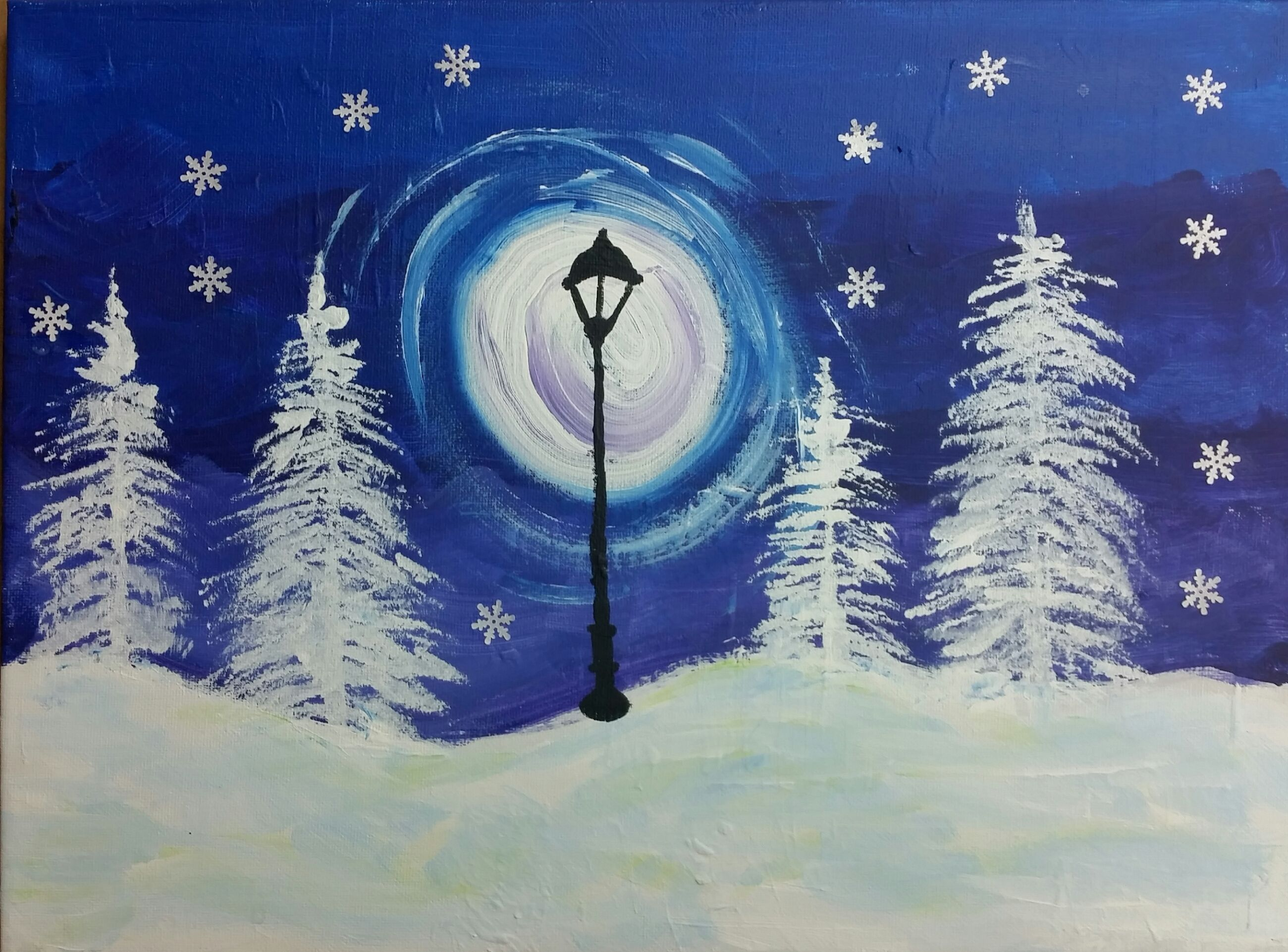 Image result for kid's winter paintings""
