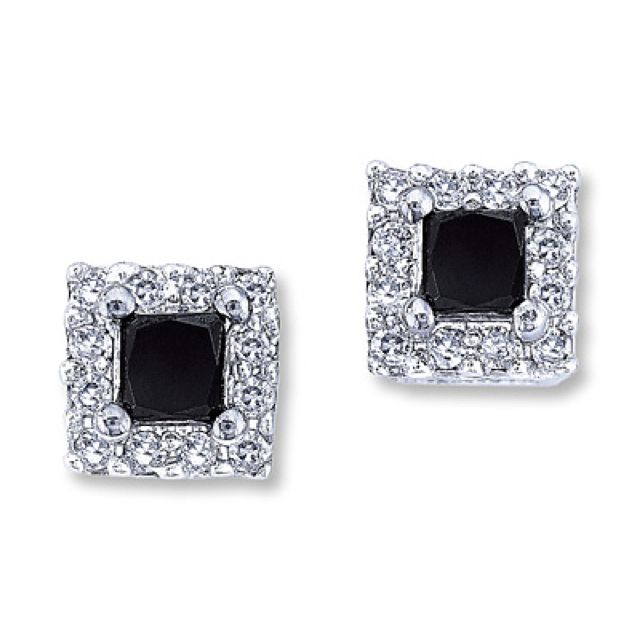 Pin By Caitlyn On My Lifestyle Black Diamond Earrings
