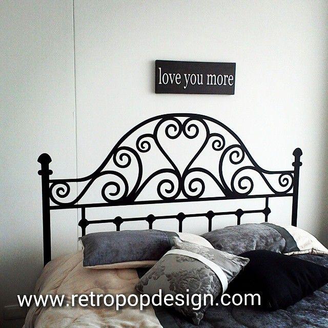 Proyecto realizado cabecera de cama en vinilo vinilosdecorativos decoracionparedes vinilos - Vinilos cabecera cama ...