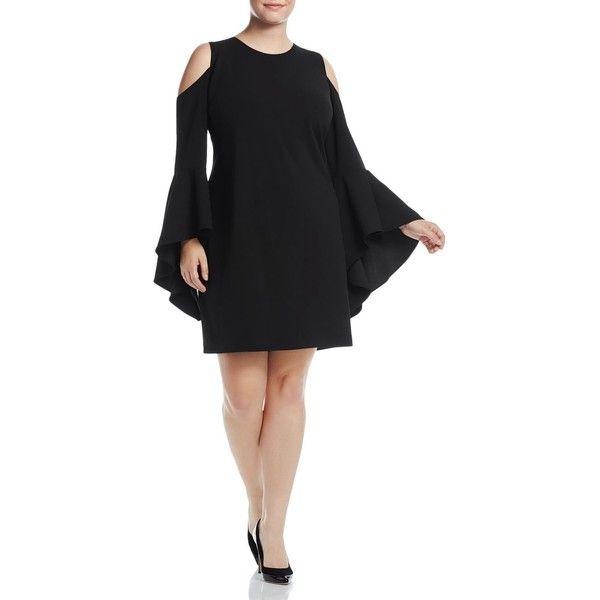 Vince Camuto Plus Cold-Shoulder Bell-Sleeve Dress ($145 ...