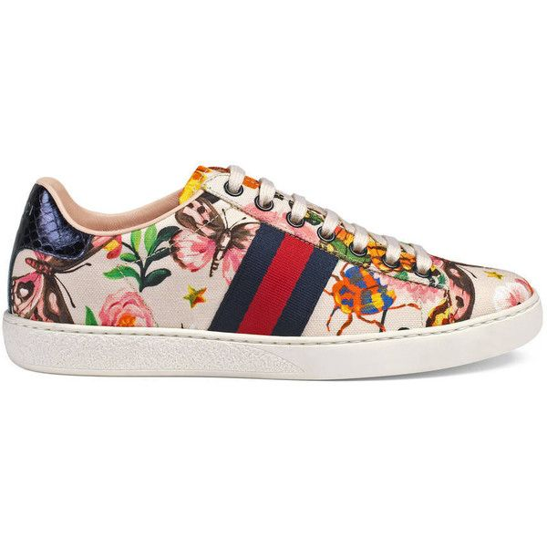 4f39c0261c3 Gucci Garden Exclusive Ace Sneaker ( 595) ❤ liked on Polyvore featuring  shoes