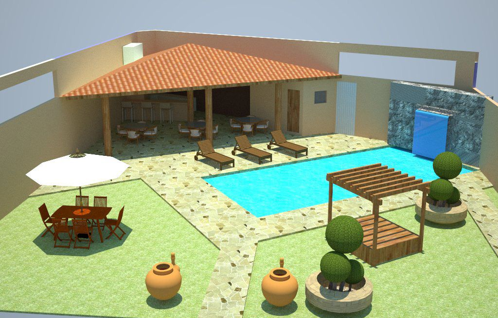 Modelos de projetos de edicula com piscina lazer for Modelos de piscinas modernas
