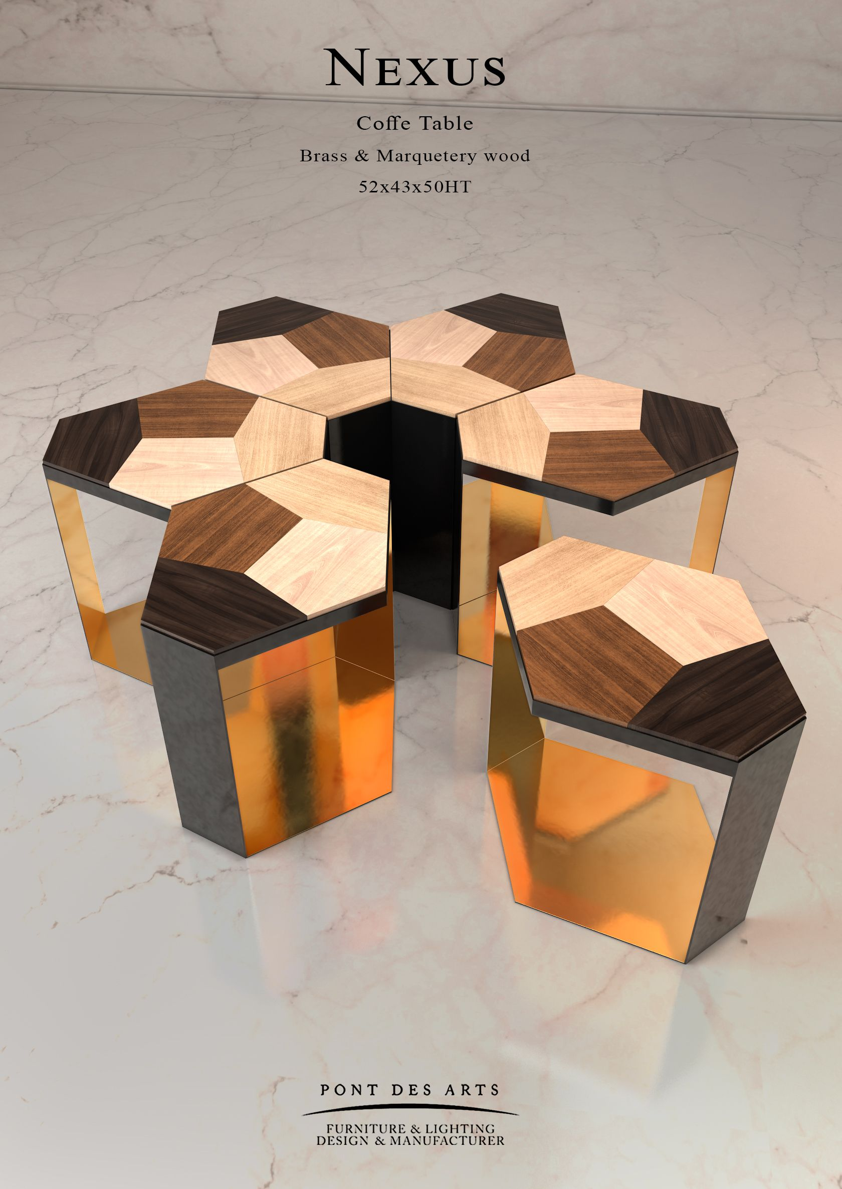 nexus coffee table - designer monzer hammoud