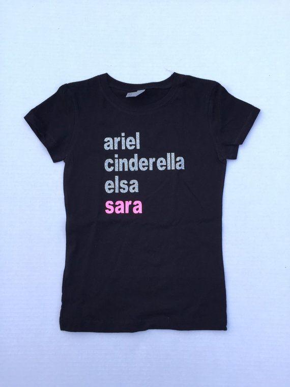 84c728f68 Custom Disney Princess T-shirt, Custom name, Princess Shirt, Custom ...