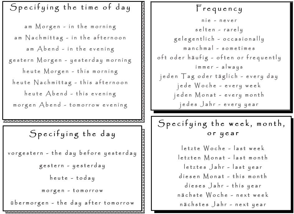 Essential German Time Phrases And Expressions Learn German German Communication Vocabulary Time Learn German German Language Learning German
