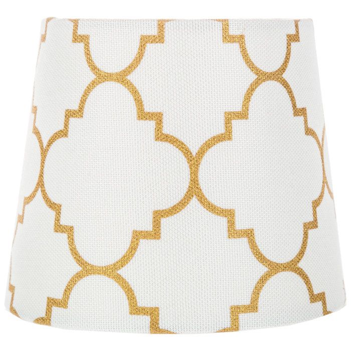 Hobby Lobby Lamp Shades Mini White & Gold Quatrefoil Lamp Shade  Diy Decor  Pinterest