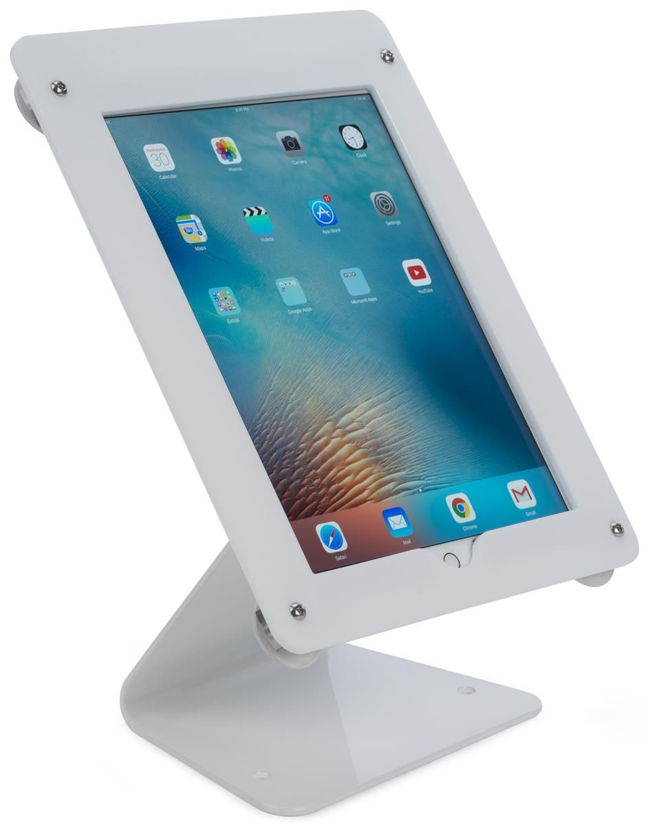 iPad Pro Counter Stand, CC Reader Compatible, Lockable – White ...