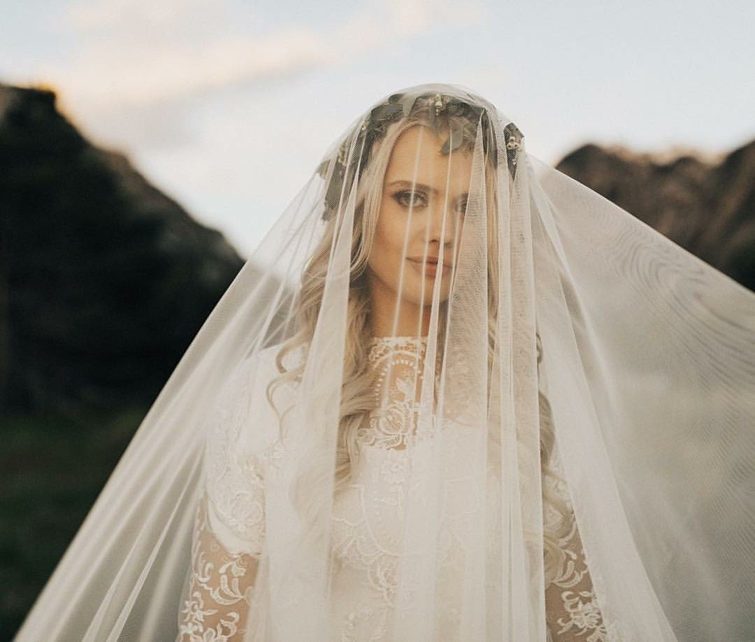 Modest wedding dress with long sleeves from alta moda bridal modest