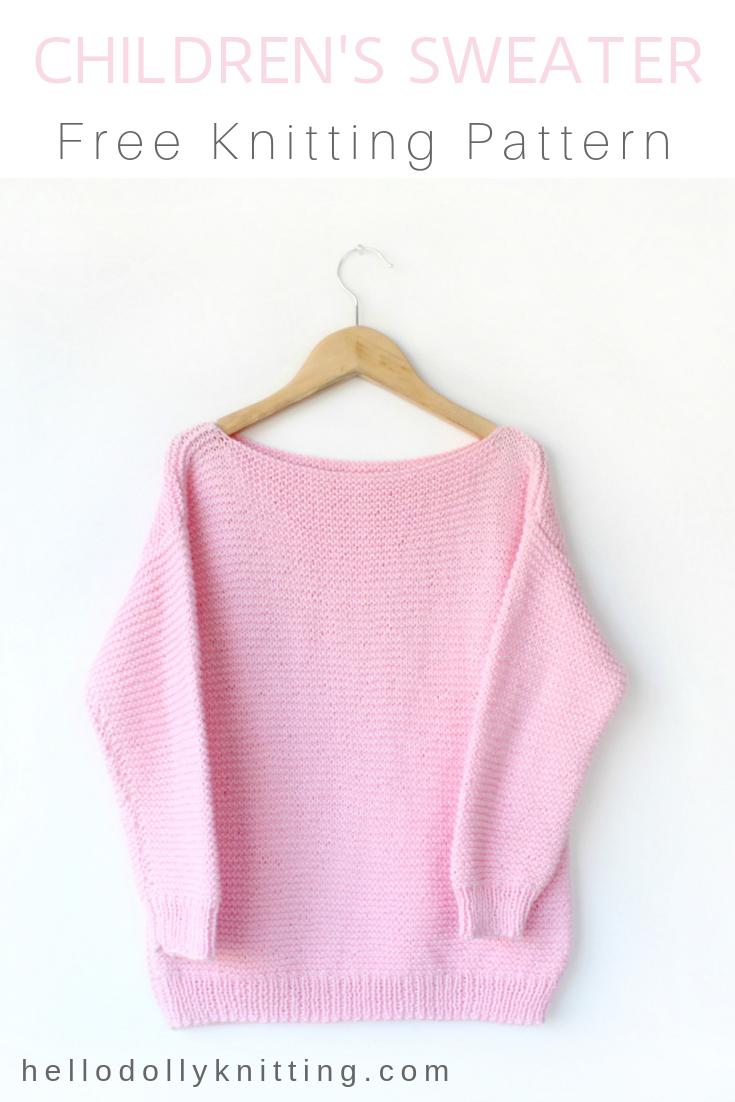 Free Children S Boxy Sweater Knitting Pattern Knitting