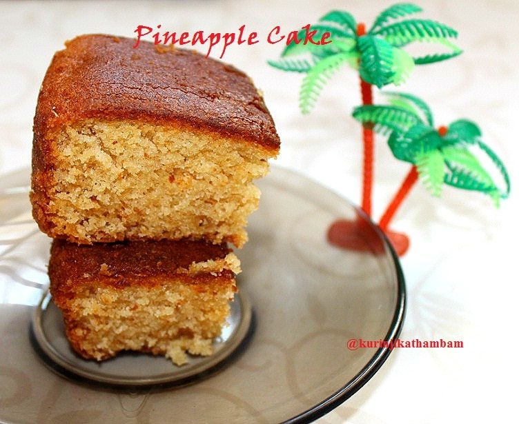 Eggless Pineapple Cake With Condensed Milk Pineapple Cake Eggless Pineapple Cake Pineapple Upside Down Cake