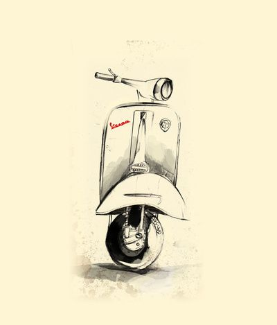 Vespa Art Print Juan Alonso With Images Vespa Retro Vespa