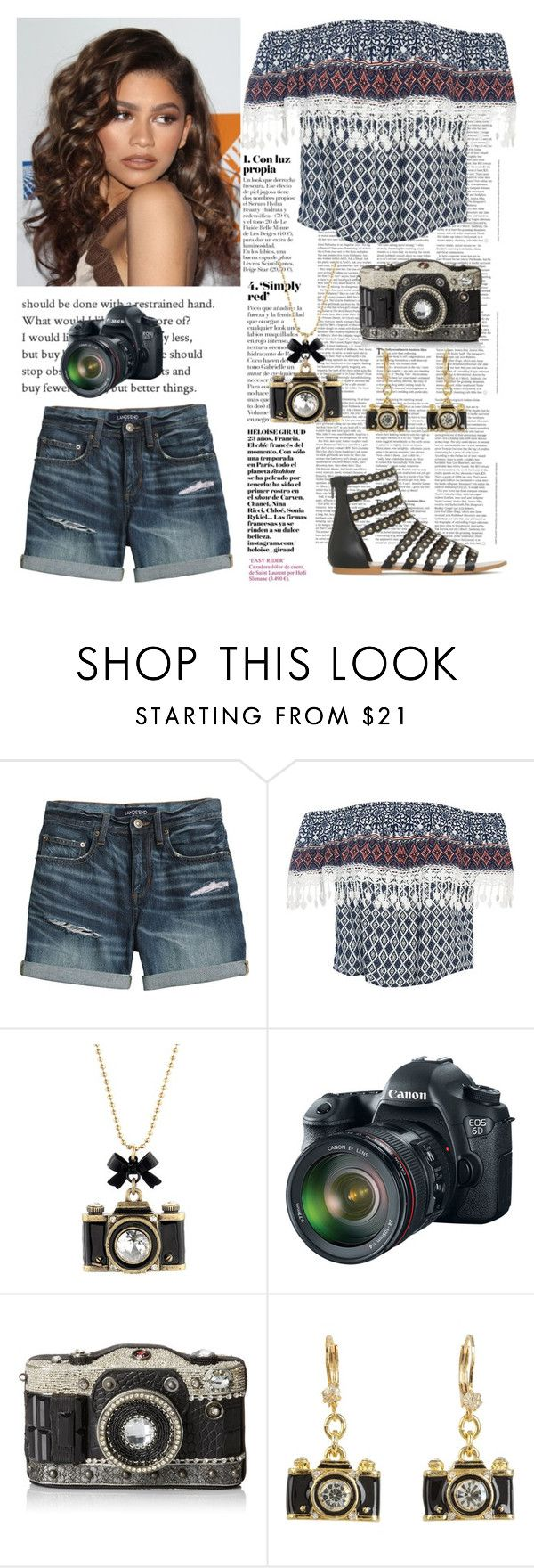 """Photo bomb"" by tjoyreeves1 ❤ liked on Polyvore featuring Canvas by Lands' End, Sans Souci, Coleman, Betsey Johnson, Eos and Mary Frances Accessories"