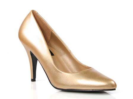 Salon Dorado Con Tacon De 10 Cm Zapatos De Fiesta Zapatos Calzas