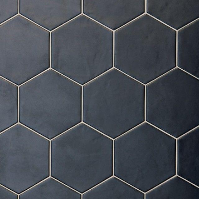 Hexagon Black Floor Tile 175x200x8mm