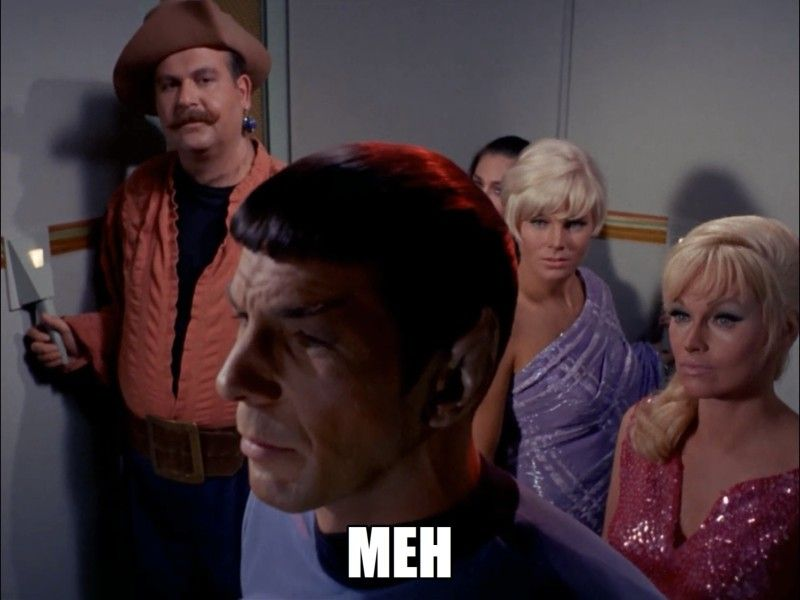 Spock is not amused. Star Trek N00b Episode 6 recap at Autostraddle