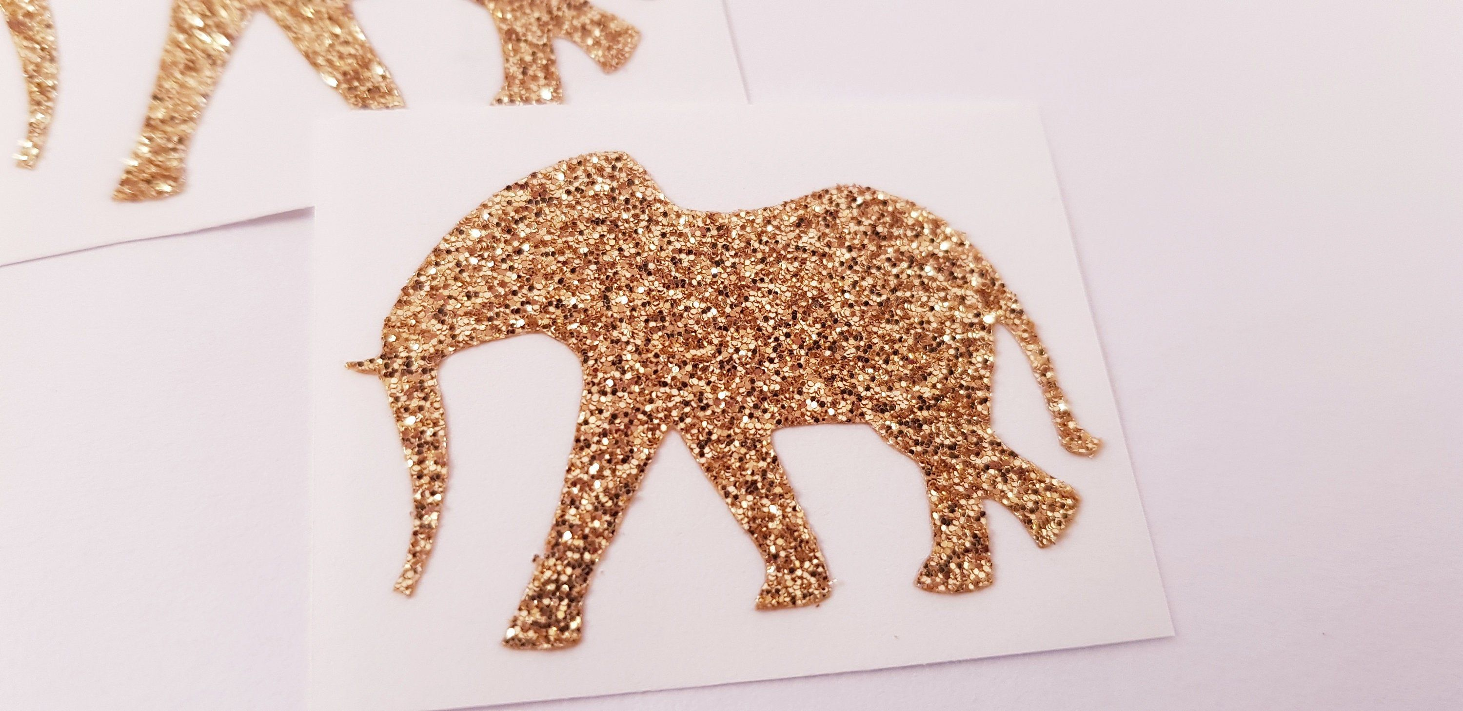 Glitter elephant stickers, Glitter elephant, Nursery decor, Safari themed stickers, Wall decor, Removable wallpaper, Wall Decals #elephantitems