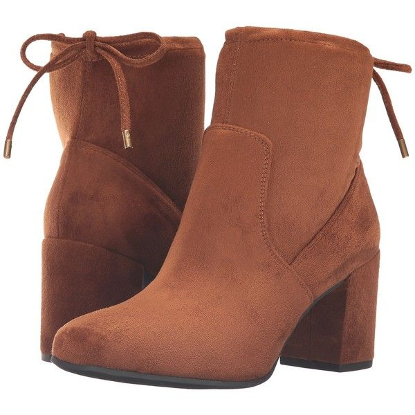 Franco Sarto Pisces (Whiskey Stretch Suede) Women's Shoes ($50) ❤ liked on  Polyvore featuring shoes, boots, ankle booties, ankle boots, brown, ...