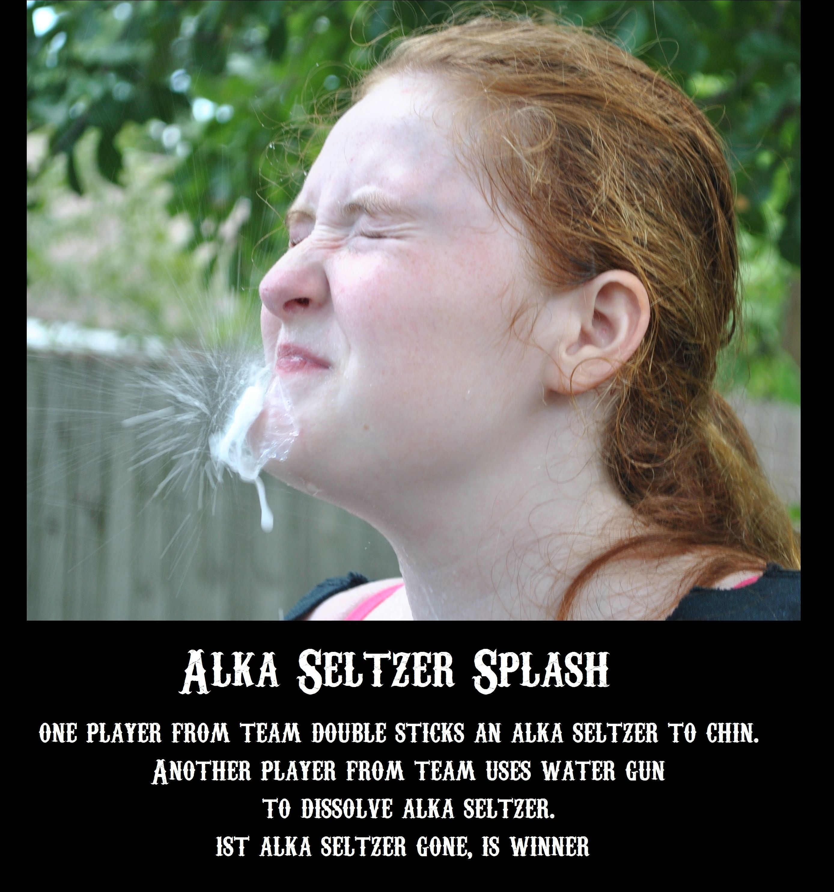 Family Fear Factor Alka Seltzer Splash By Lss Fear Factor Party Fear Factor Games Fear Factor