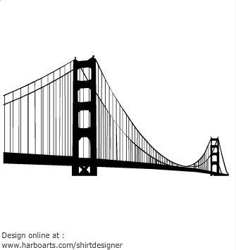 Golden Gate Bridge Silhouette Golden Gate Bridge City