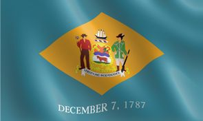 Delaware State Flag The First State Delaware State Flag State Flags Delaware Usa