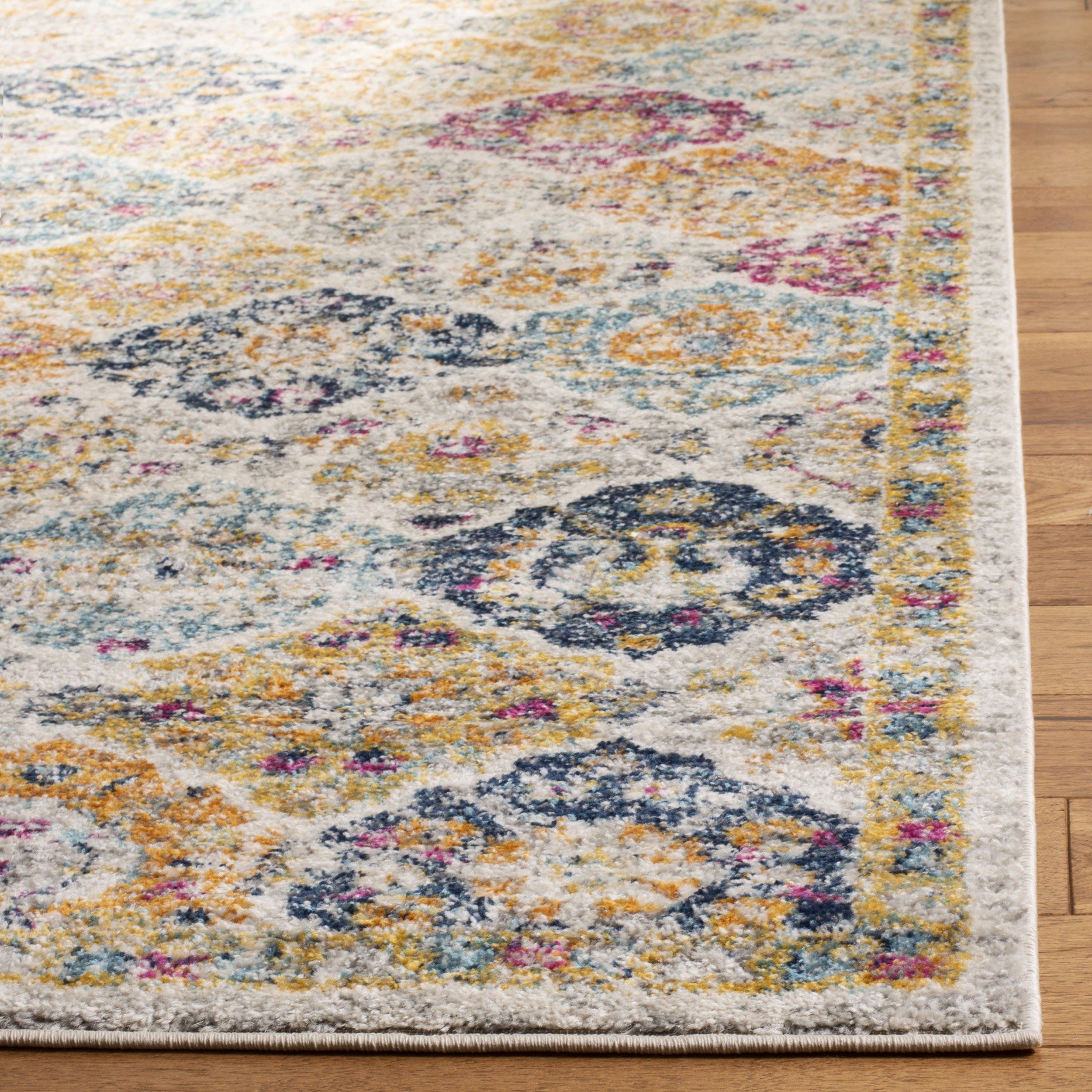 7c871bd6458 Safavieh Madison Collection MAD611B Cream and Multicolored Bohemian Chic  Distressed Square Area Rug 4 Square     Check this awesome product by going  to the ...