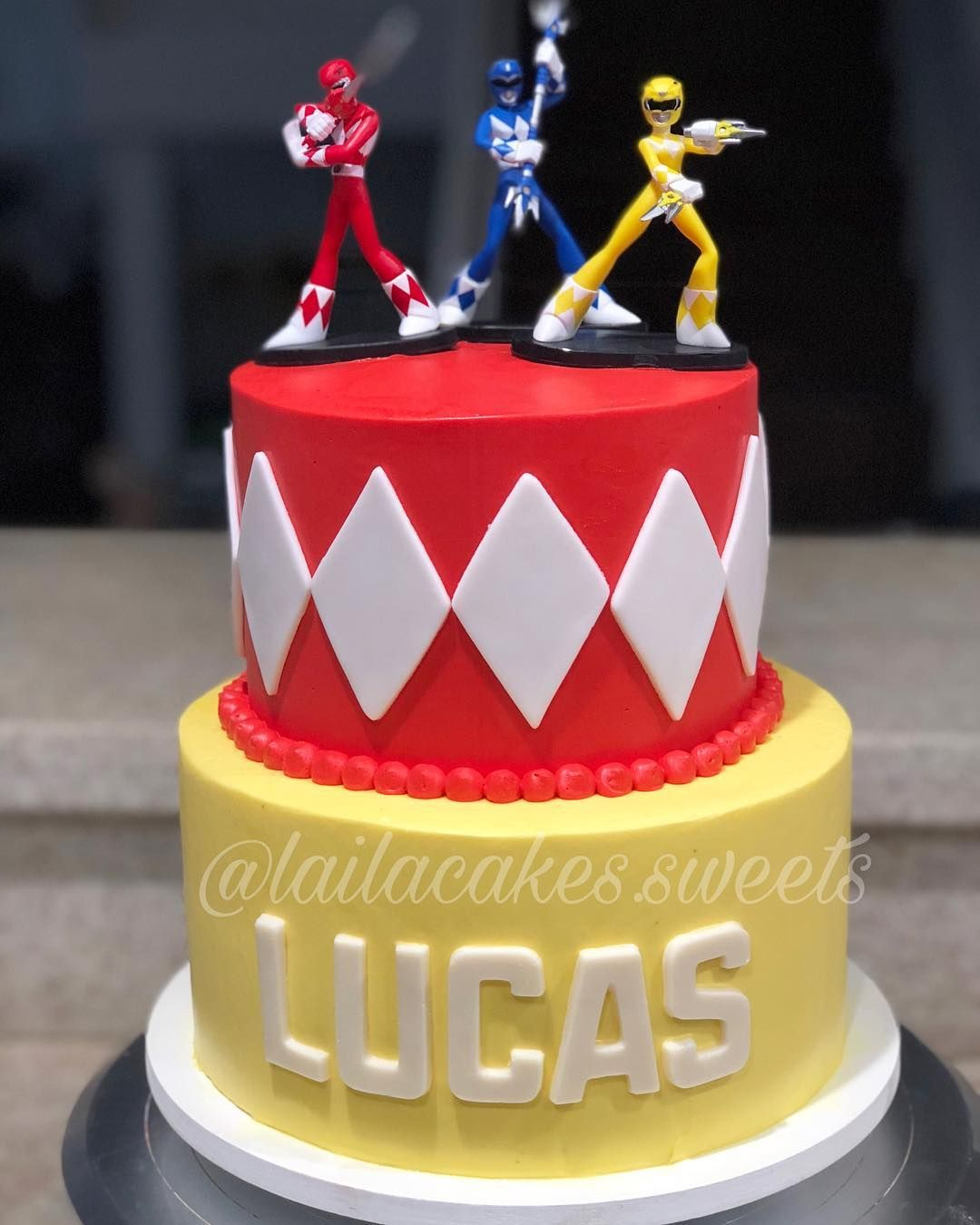 Brilliant Laila Cakes Sweets On Instagram Power Rangers Cake Personalised Birthday Cards Veneteletsinfo
