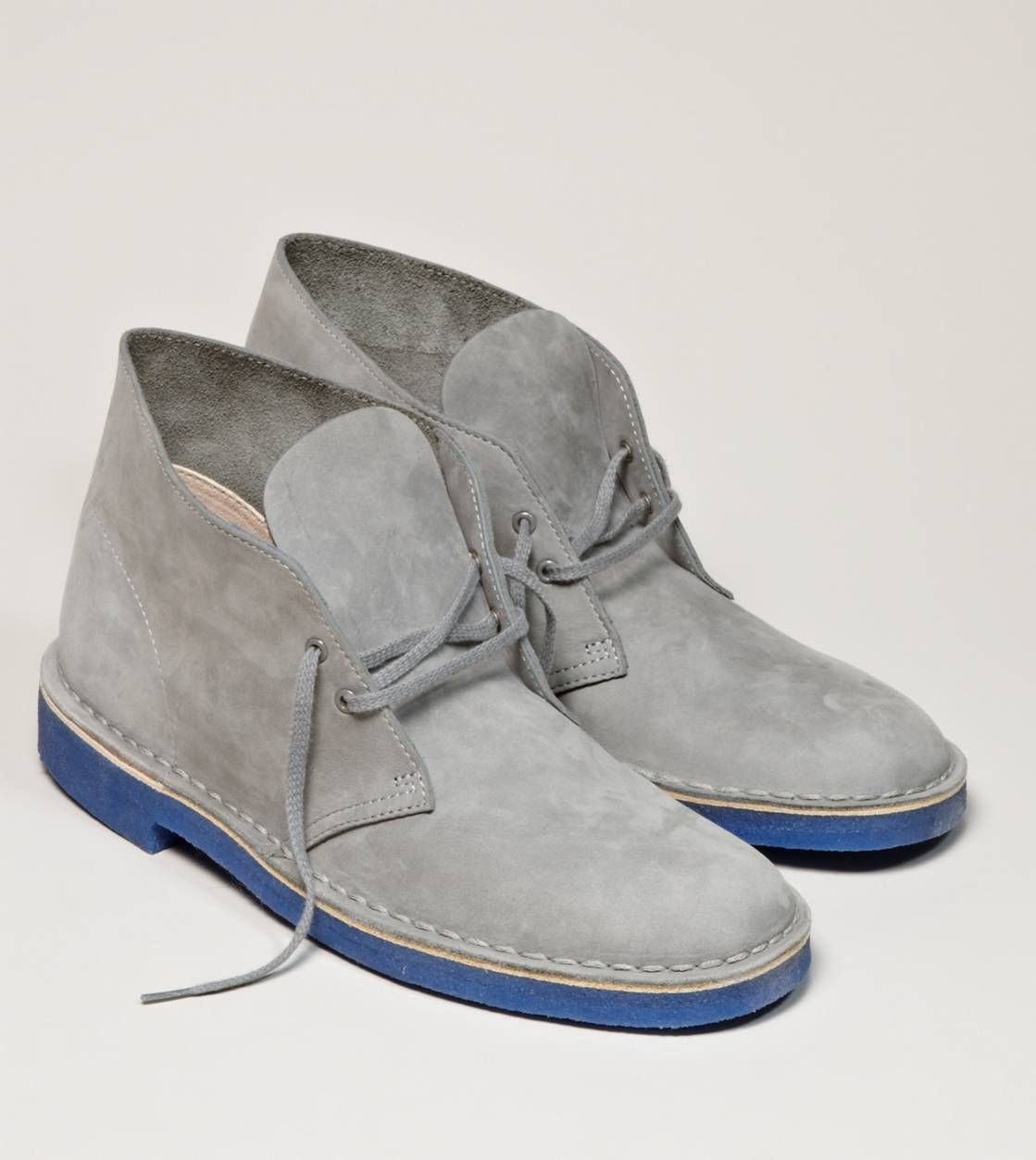 571eb8f2 Clarks Originals Desert Boot, Nice combo of grey with blue sole ...
