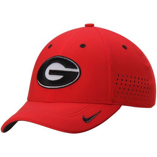 Nike Georgia Bulldogs Red Dri-FIT Sideline Swoosh Flex Hat  f64024006538