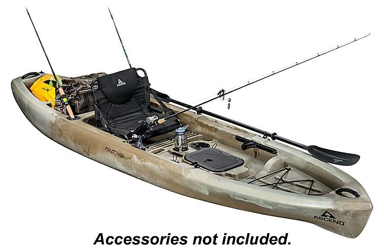 Ascend Fs12t Sit On Top Angler Kayak Desert Storm