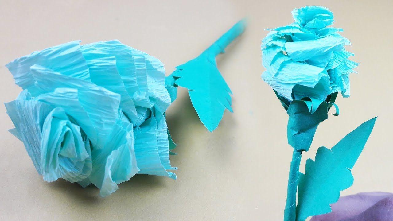 Origami Rose Flower Or Origami Blue Rose Of Easy Making Origami