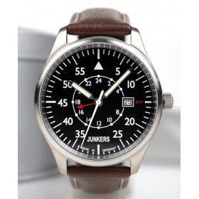 Reloj Junkers 6244-2 Cuarzo Cockpit negro y marrón  148ca093af8