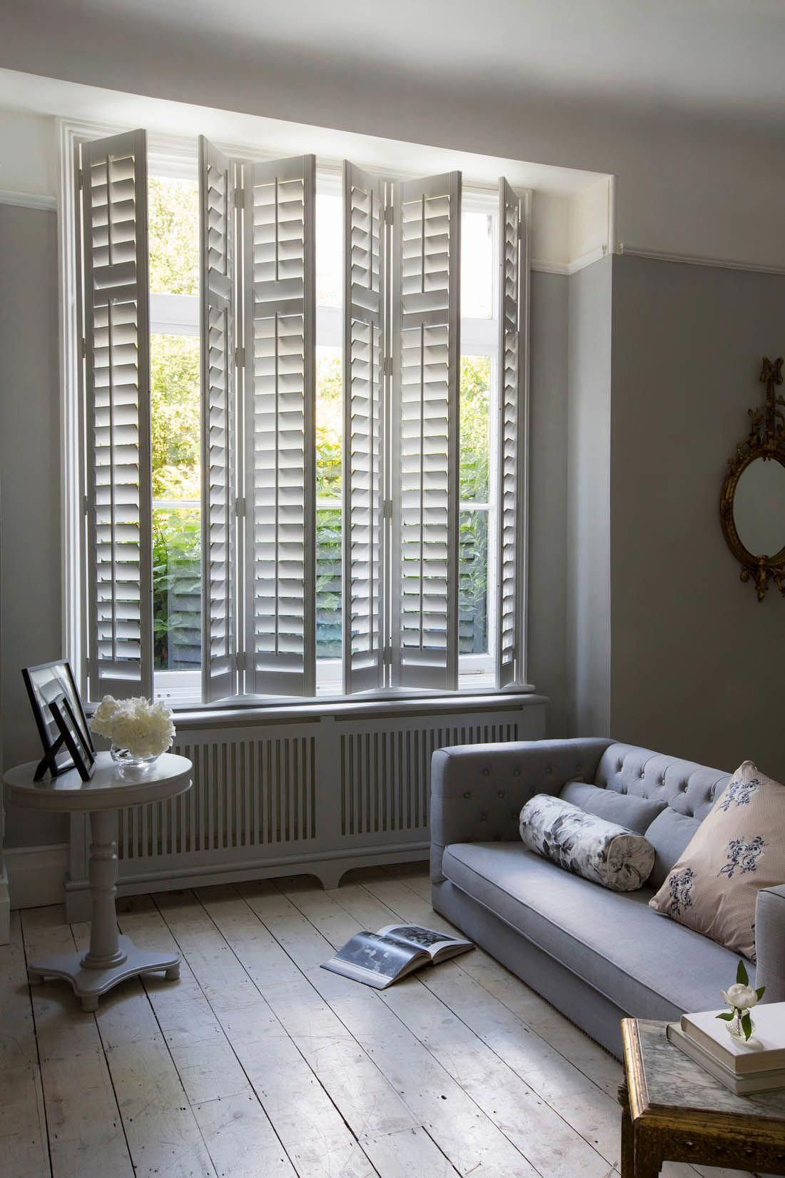 Full Height Interior Wooden Shutters In Living Room Making The Most Of Your Windows Lu Living Room Blinds Window Treatments Living Room Living Room Windows #shutters #for #living #room