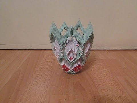 3d Origami Vase Tutorial 6 Youtube Diy Crafts That I Love
