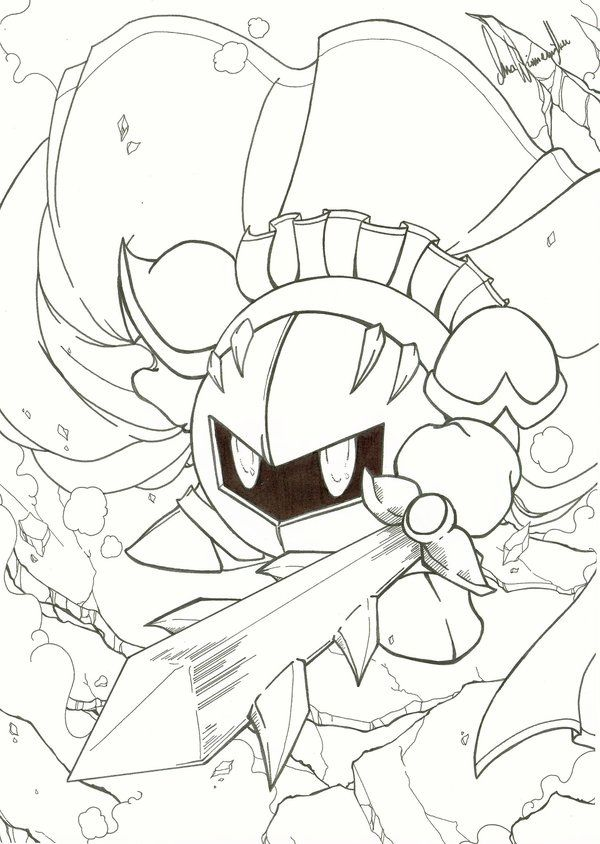 Meta Knight Coloring Pages To Print Meta Knight Coloring Pages To