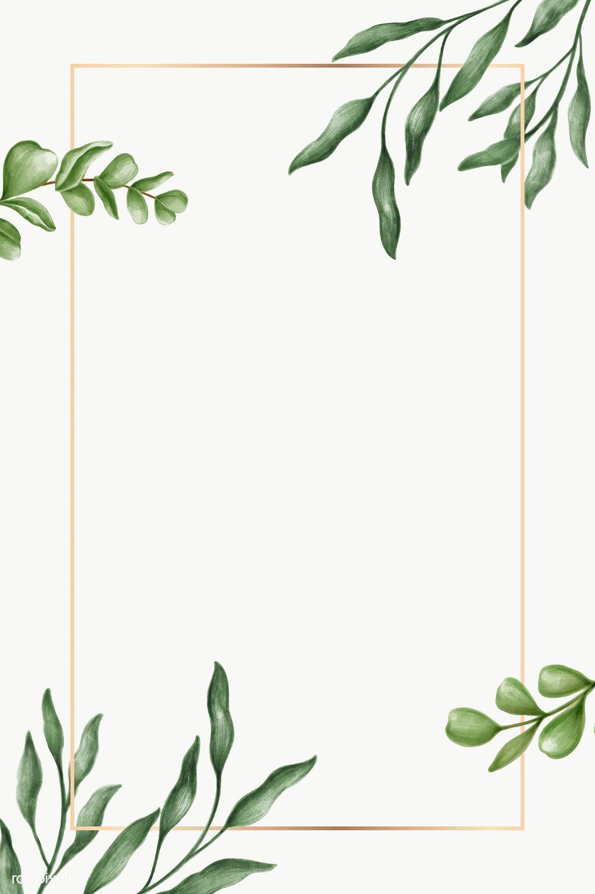 Green Leaves Frame Transparent Png Premium Image By Rawpixel Com Noon Vector Vectorart Digitalpainting Zelenye Fony Cvetochnye Fony Illyustracii Rastenij