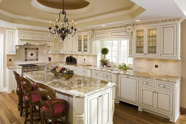 Best Examples Of Black Or Chocolate Glaze Over White Cabinets 400 x 300