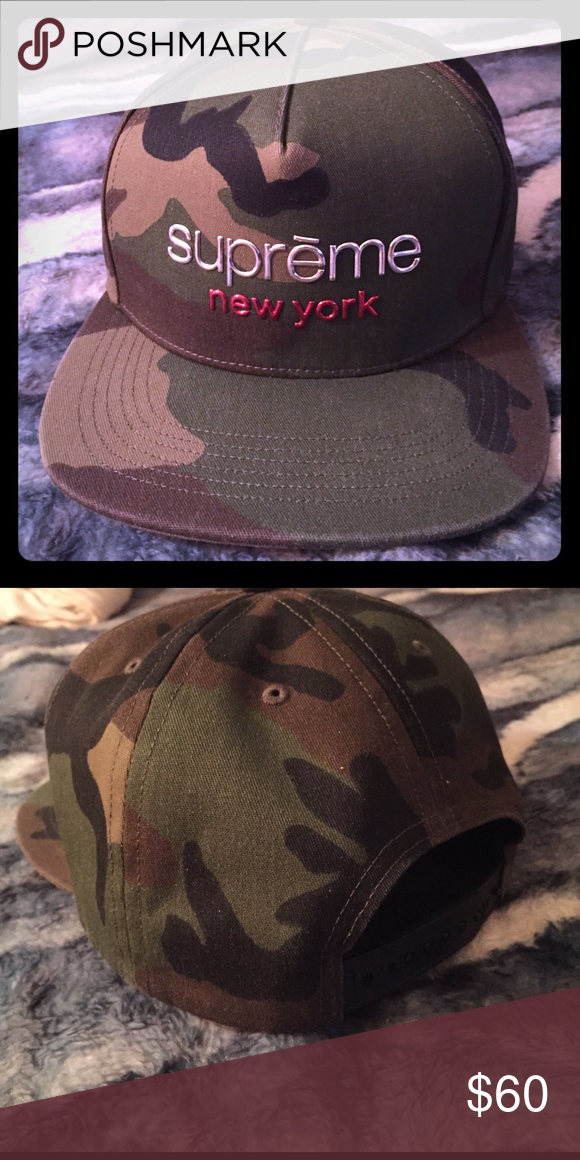 820685065fa Supreme NY Classic Camouflage 5 Panel Snapback Chrome. Very Clean almost  branch New Supreme Accessories Hats