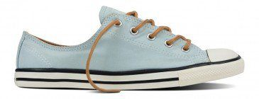 910c2d1a7216 Converse Women s Chuck Taylor All Star Dainty Peached Canvas Low Top Polar  Blue Biscuit White